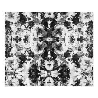 Un modelo blanco negro abstracto de la acuarela fotografía