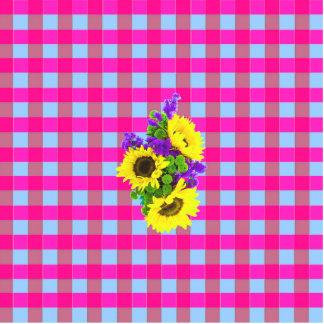 Un modelo de flor a cuadros de Sun del trullo Fotoescultura Vertical