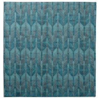 Un modelo de onda azul colorido abstracto moderno servilleta imprimida