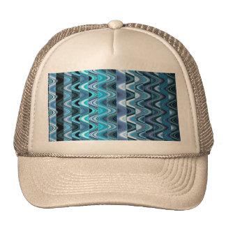 Un modelo de onda colorido abstracto moderno gorras