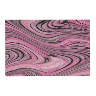Un modelo de onda negro rosado abstracto moderno tapete individual