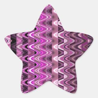 Un modelo de onda rosado colorido abstracto pegatina en forma de estrella