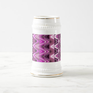 Un modelo de onda rosado colorido abstracto tazas de café