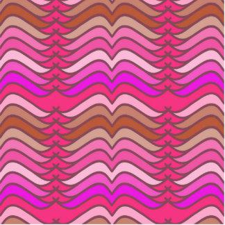 Un modelo de onda rosado de neón moderno fotoescultura vertical