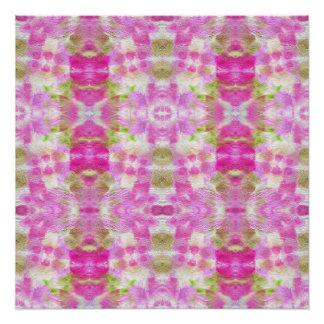 Un modelo de papel rosado abstracto de la acuarela perfect poster