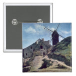 Un molino de viento en Montmartre, 1840-45 Pin Cuadrada 5 Cm