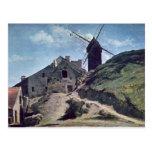Un molino de viento en Montmartre, 1840-45 Postales