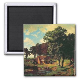 Un molino oxidado de Bierstadt Albert Imán Cuadrado