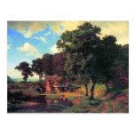 Un molino rústico por Bierstadt Postales