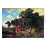 Un molino rústico por Bierstadt Tarjeta