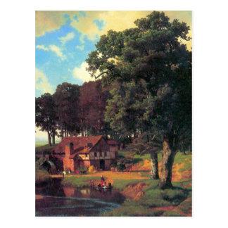Un molino rústico por Bierstadt Tarjetas Postales