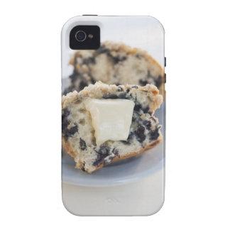 Un mollete del arándano con mantequilla vibe iPhone 4 fundas