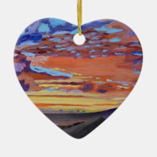 Un momento perfecto a tiempo adorno de cerámica en forma de corazón