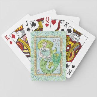 Un momento submarino afortunado baraja de cartas