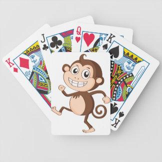 un mono baraja de cartas