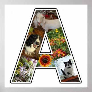 Un monograma crea su propio collage de la foto de póster
