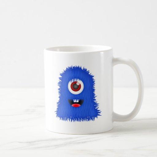 Un monstruo azul observado taza