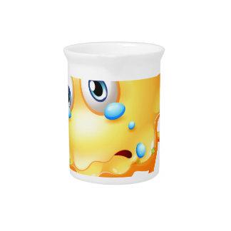 Un monstruo que llora debido a tristeza jarron