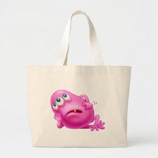 Un monstruo rosado tres-observado aburrido bolsa tela grande