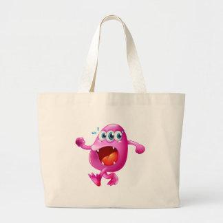 Un monstruo rosado tres-observado de la gorrita bolsa tela grande