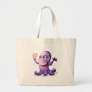 Un monstruo tres-observado que cuida bolsa tela grande