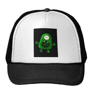 un monstruo verde observado gorros bordados
