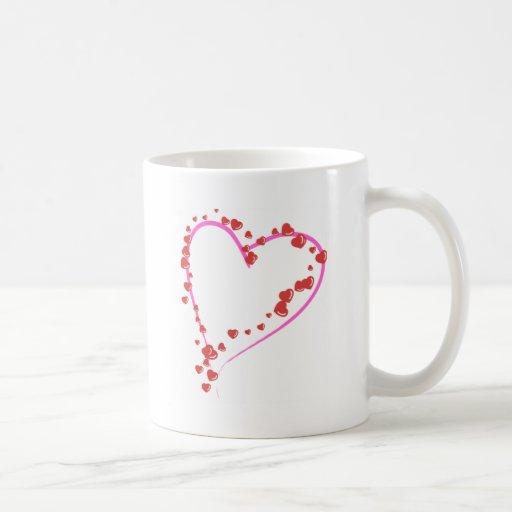 Un montón de corazones para usted taza de café