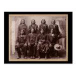Un montón del ensayo de caballos 1890 postal