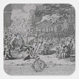 Un monumento dedicado a la posteridad, 1720 pegatina cuadrada