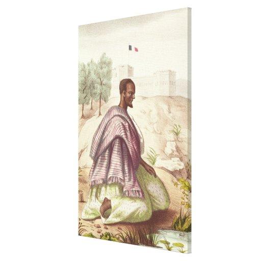 Un morabito senegalés impresión en lona estirada