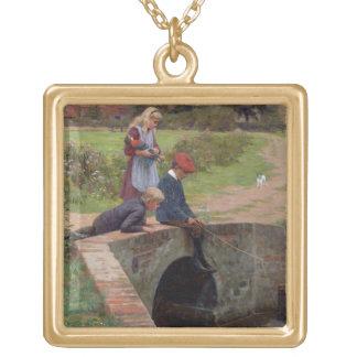 Un mordisco, 1914 (aceite en el panel) colgante cuadrado