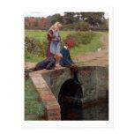 Un mordisco, 1914 (aceite en el panel) postales