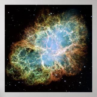 Un mosaico gigante de Hubble de la nebulosa de can Póster