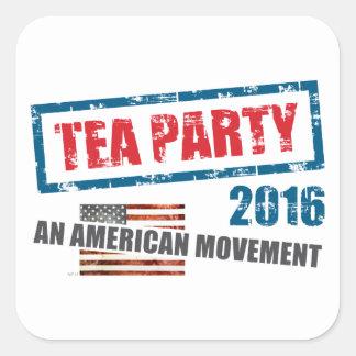 Un movimiento americano pegatina cuadrada
