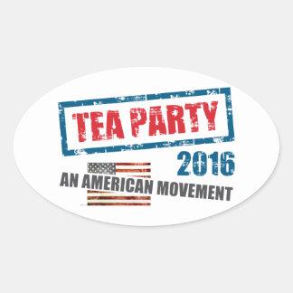 Un movimiento americano pegatina ovalada