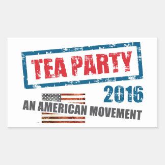 Un movimiento americano pegatina rectangular