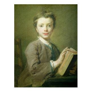 Un muchacho con un libro, c.1740 postal