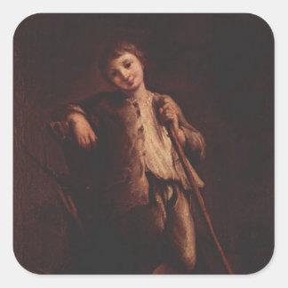 Un muchacho del pastor de Pietro Longhi Colcomanias Cuadradas