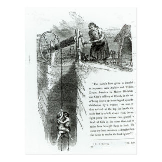 Un muchacho y un chica que son heridos encima de u postales