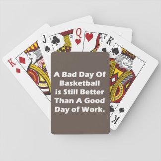 Un mún día de baloncesto barajas de cartas