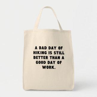 Un mún día de caminar bolsa tela para la compra