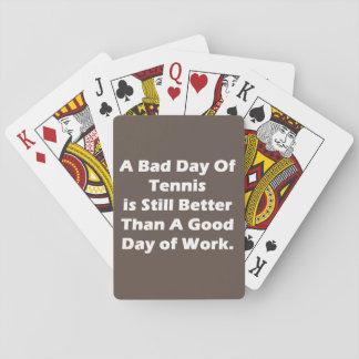 Un mún día de tenis barajas de cartas