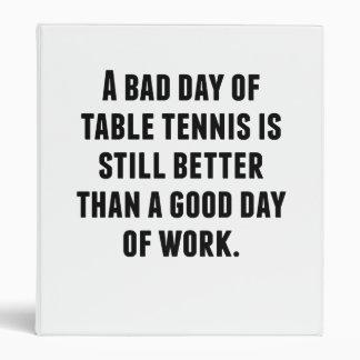 Un mún día de tenis de mesa