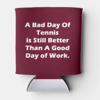Un mún día de tenis enfriador de latas