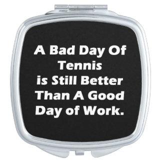 Un mún día de tenis espejos para el bolso