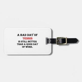 Un mún día de tenis etiquetas para maletas