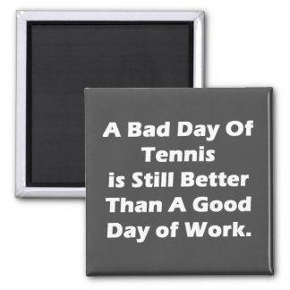 Un mún día de tenis imán cuadrado
