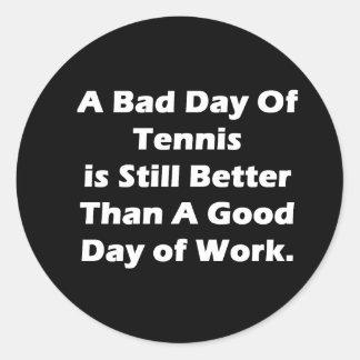 Un mún día de tenis pegatina redonda