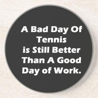 Un mún día de tenis posavasos para bebidas