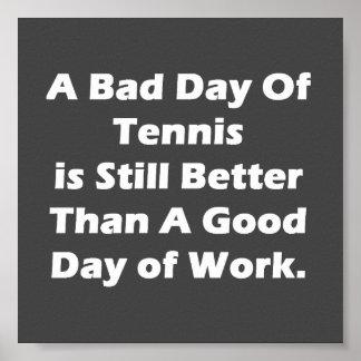 Un mún día de tenis póster